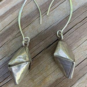 Tibetan handmade silver earrings